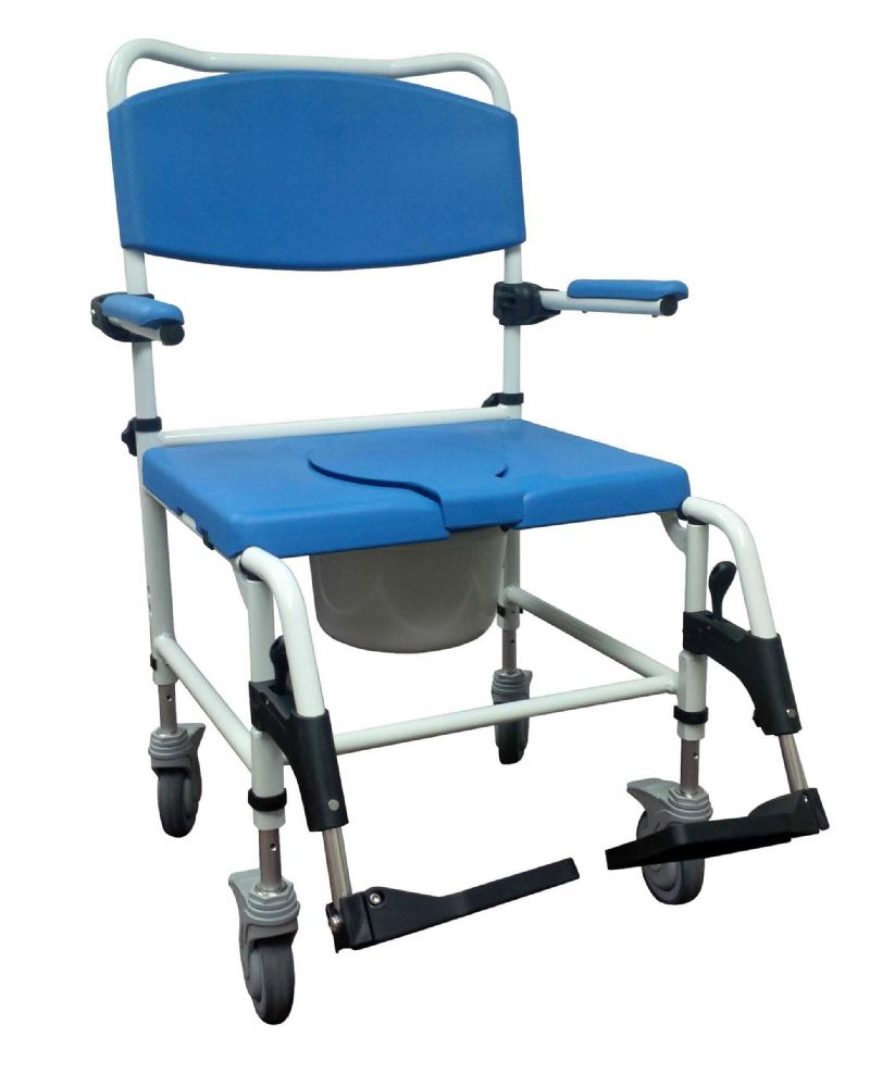 Handicap shower chairs pvc reclining shower commode chairs - Bariatric Rehab Shower Commode Chair