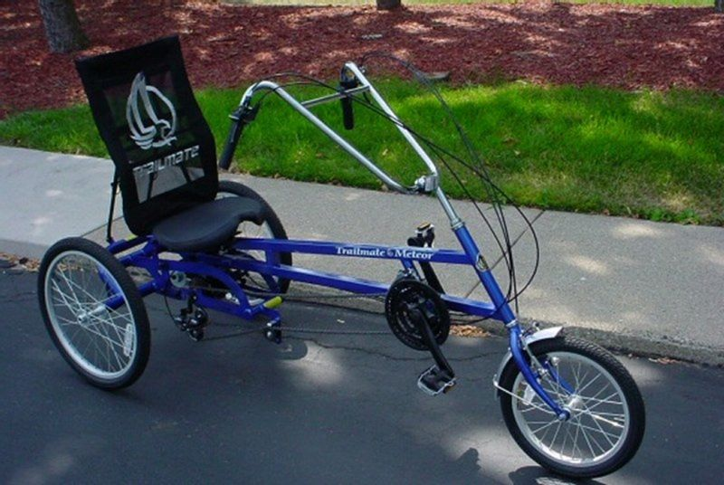 The Trailmate Meteor Three Wheel Tricycle is a recumbent model trike. It  has a greater weight and height capacity than the other adult tricycles  we've ...