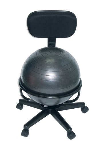 cando metal mobile ball chair with backrest