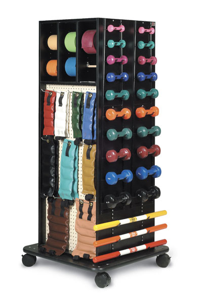 Hausmann Mega Accessory Racks For Exercise Bands And Weights