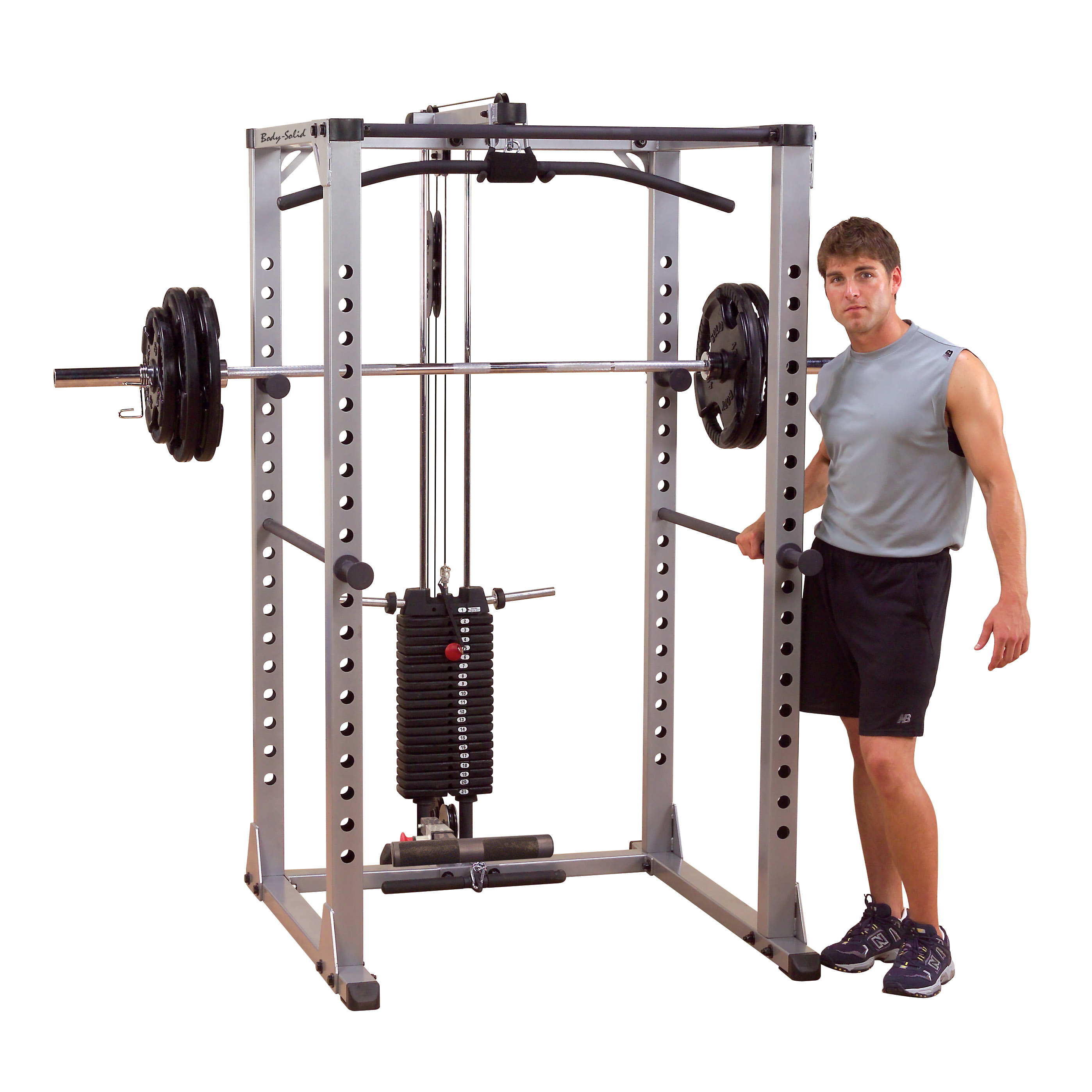 Power Rack With Weights: Body-Solid Pro Power Rack