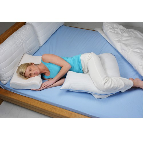 Contoured L Shaped Body Pillow For Side Sleeping