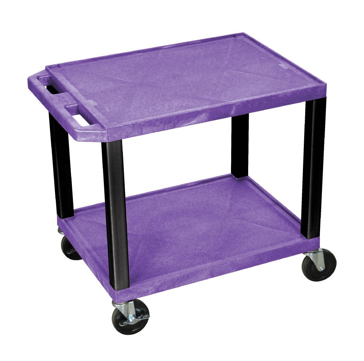 Luxor 26 Inch Two Shelf Av Push Cart Free Shipping