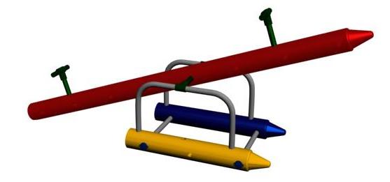 Crayon Shaped Teeter Totter Sets Free Shipping
