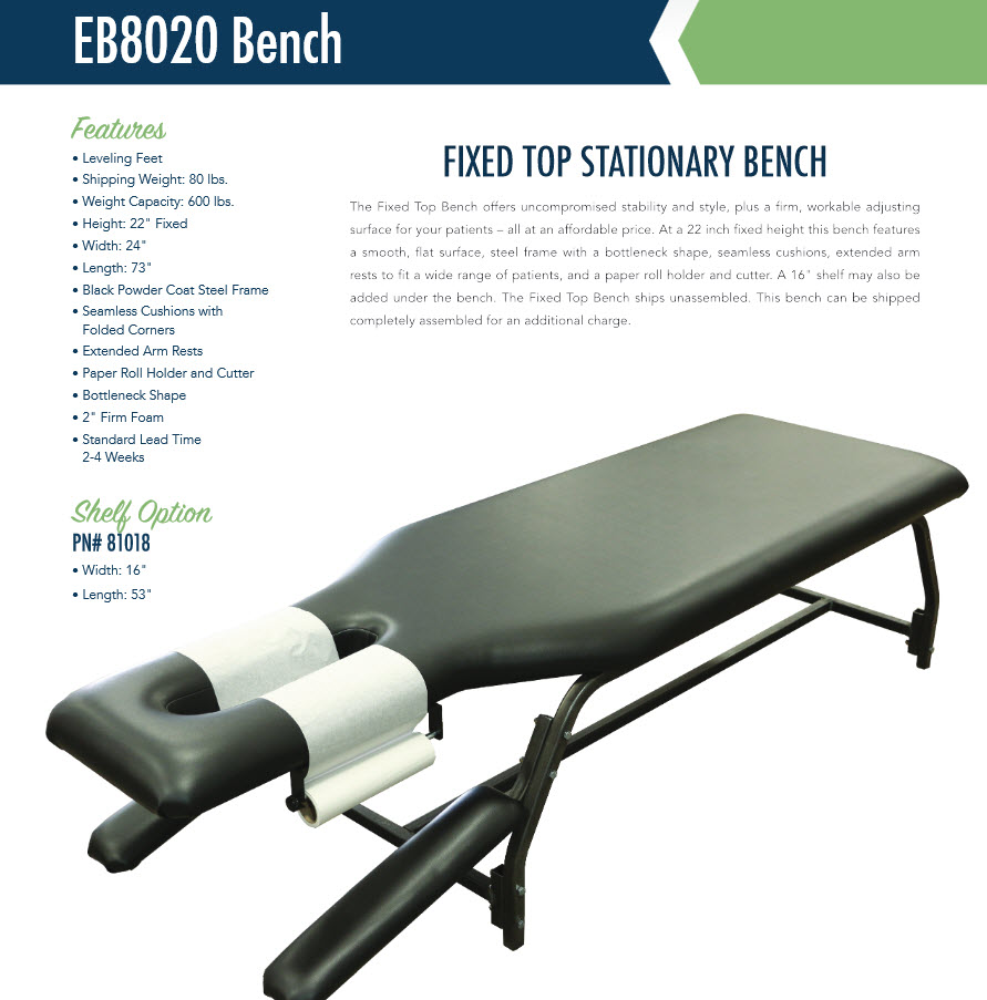 Chiropractic Stationary Bench Free Shipping