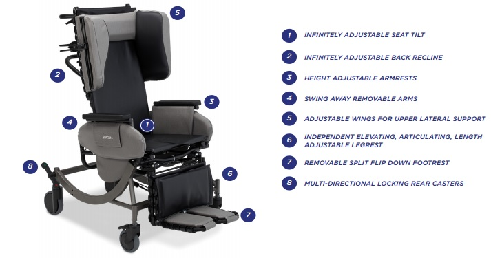 Broda Synthesis V4 Mobile Tilt Reclining Chair