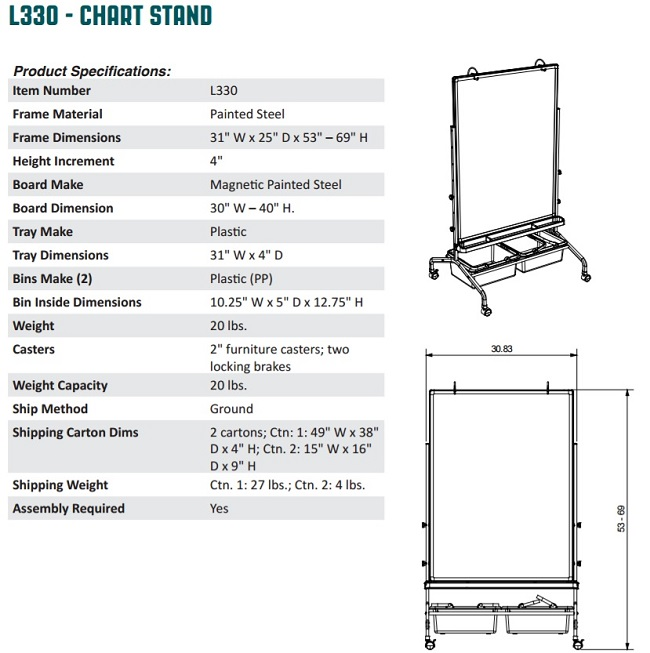 Modular Classroom Specifications ~ Mobile classroom whiteboard with storage bins
