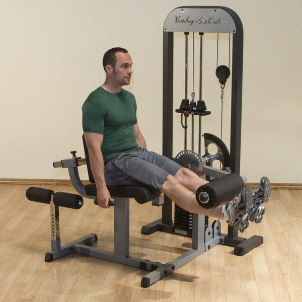Selectorized Leg Extension And Leg Curl Machine