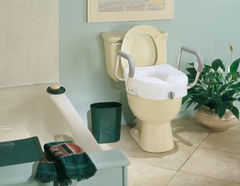 E Z Lock Raised Toilet Seat With Adjustable Handles