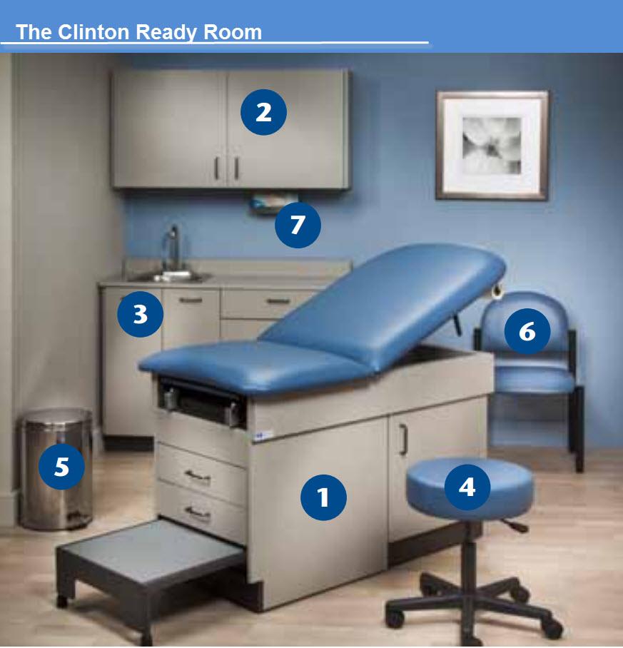 Clinton Ready Room Medical Treatment Furniture Set