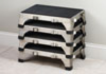 Clinton Stainless Steel Stacking Stool Free Shipping