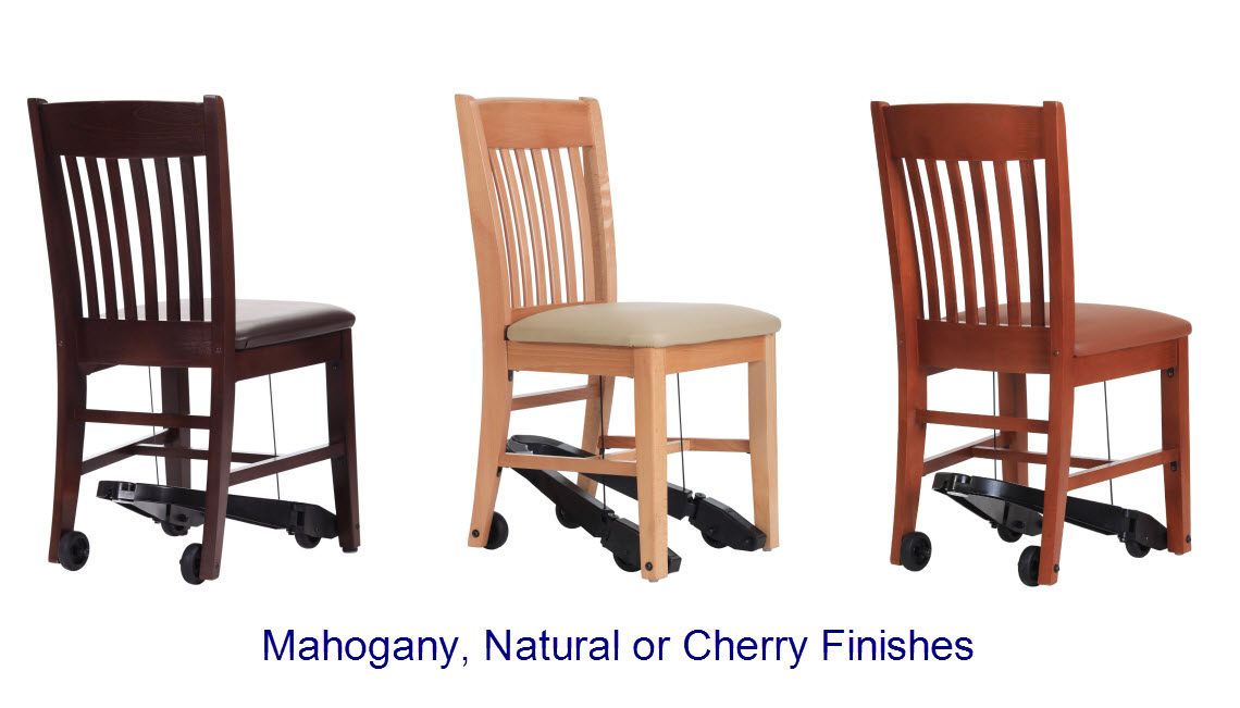 Armless Assisted Living Dining Chairs With Royal Ez Option