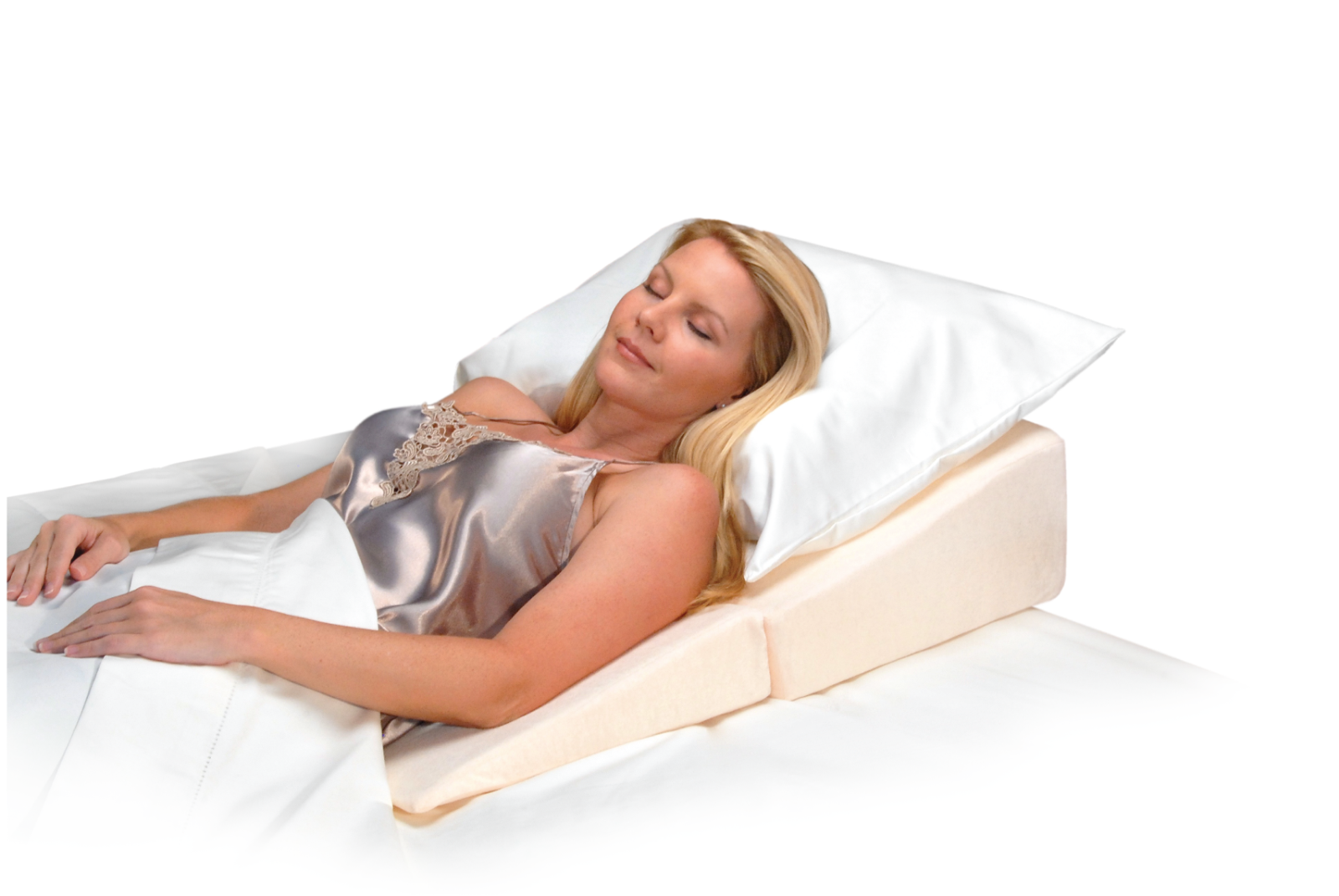 pillow system pain hammacher product wedge the bed schlemmer relieving