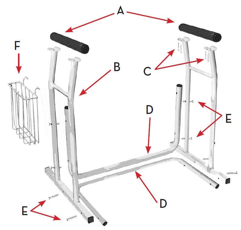 Free-Standing Toilet Safety Frame - FREE Shipping