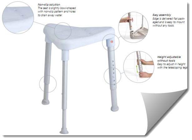 the versatility of edge shower stool makes it the perfect shower stool - Shower Stool