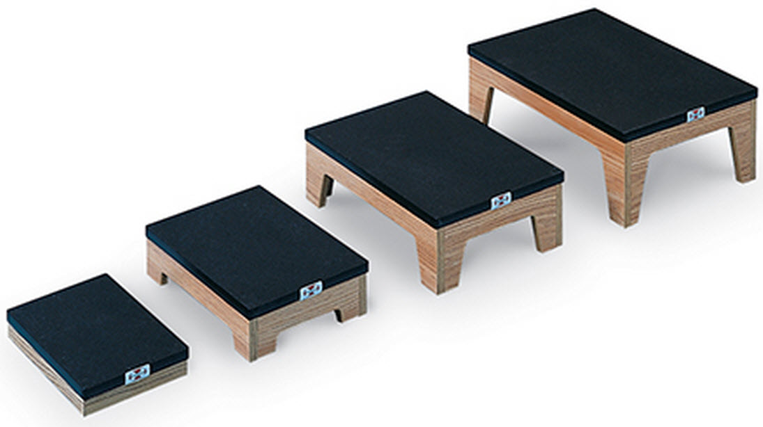 Differing Height Nested Footstools With Non Slip Top