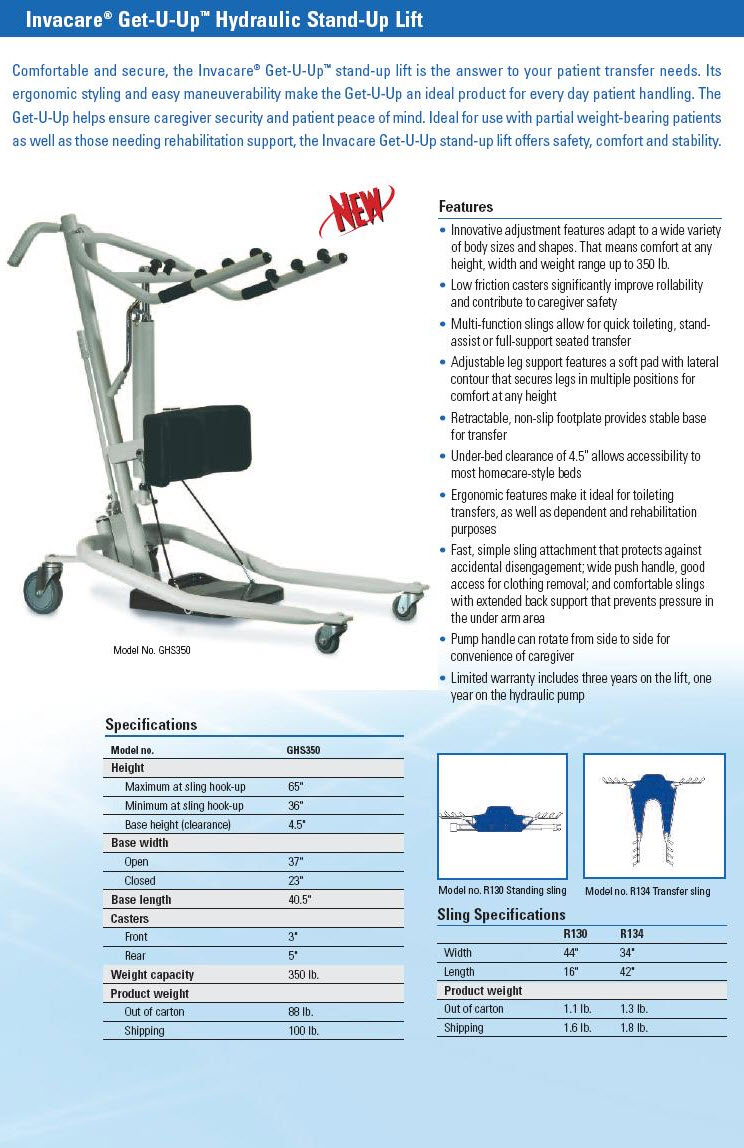 Get U Up Hydraulic Stand Up Lift Free Shipping