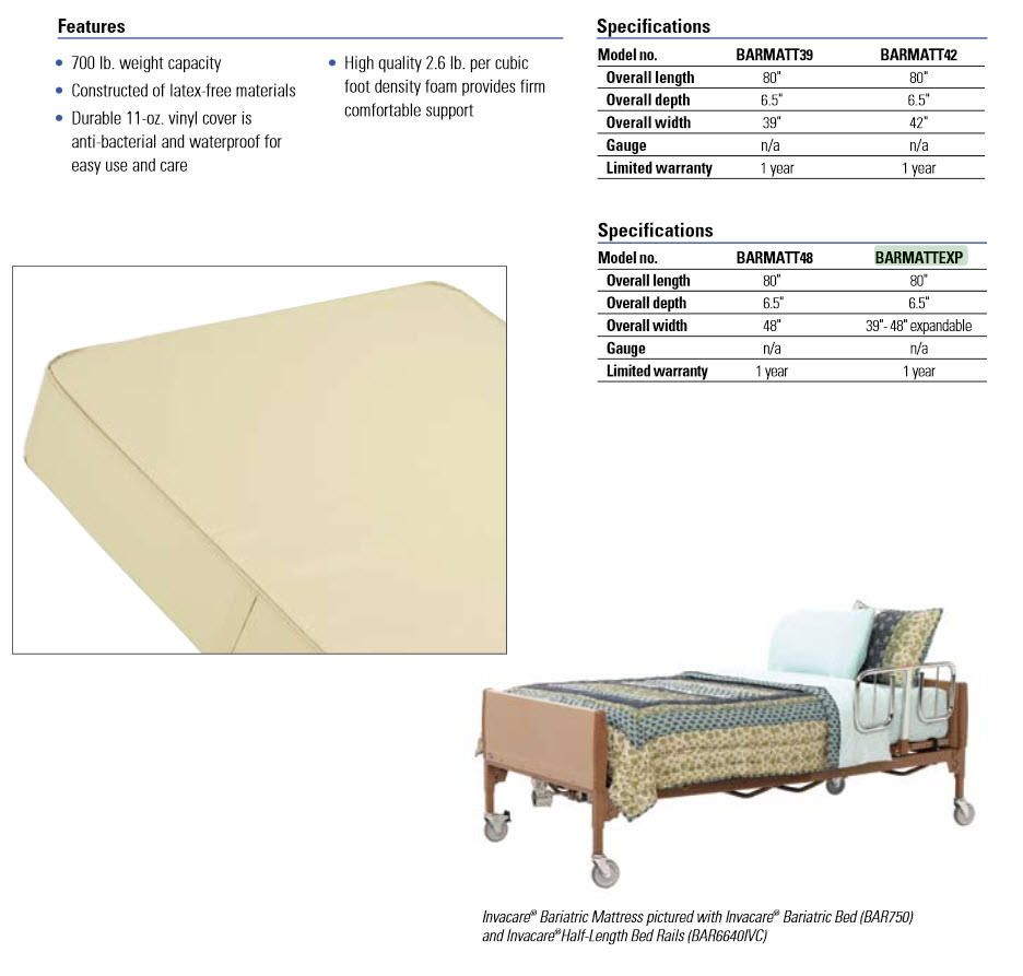 650 Pound Expandable Bariatric Bed Package Bariatric