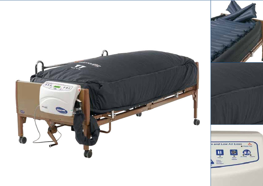 Microair Lateral Rotation Mattress With True Low Air Loss