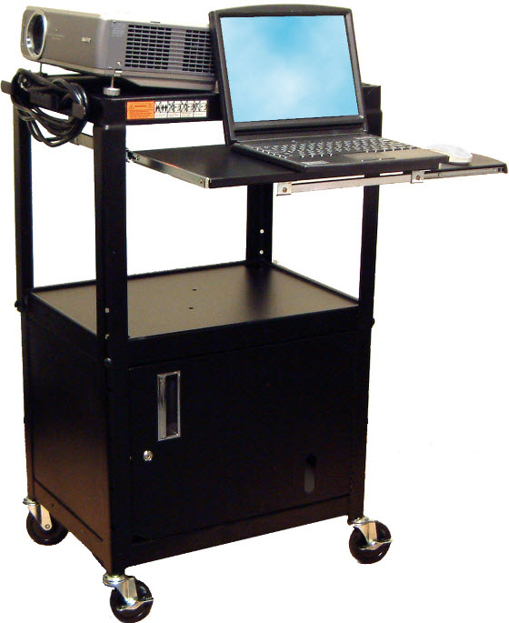 Adjustable Height Big Wheel With Keyboard And Cabinet LUX AVJ42KBC