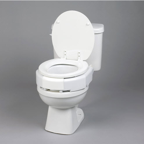 Secure Bolt Hinged Elevated Toilet Seat