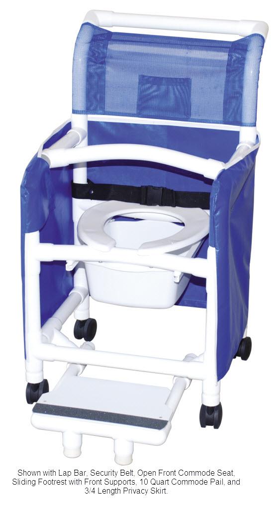 18 Inch Internal Width Shower Chair - FREE Shipping