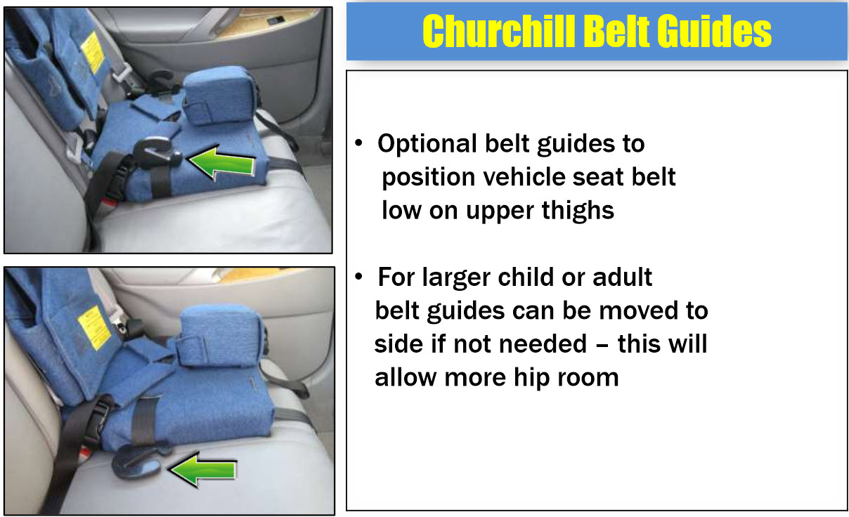 Churchill Backless Booster Seat Pediatric Special Needs