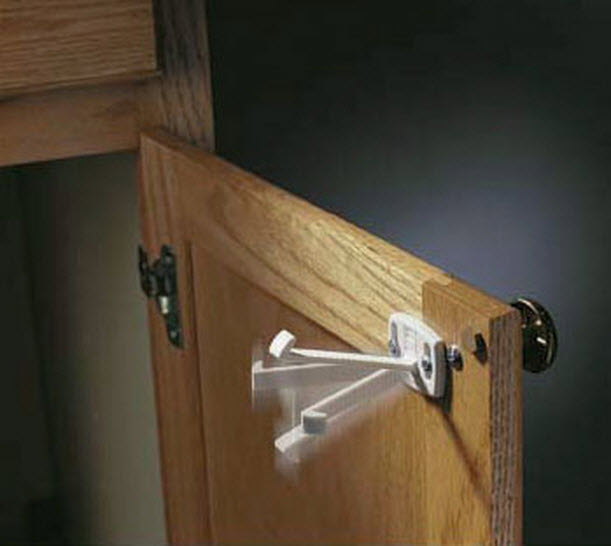 Appliance cabinet and drawer safety locks for Child safety lock for kitchen cabinets