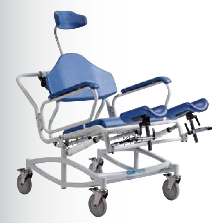 Bariatric Reclining Shower Commode Chair Tilt