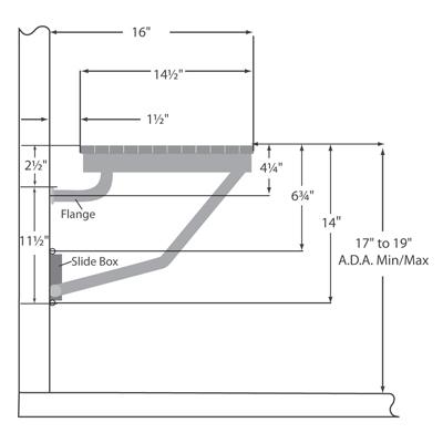 Ada Bathroom Bench teak ada compliant wall mounted shower bench