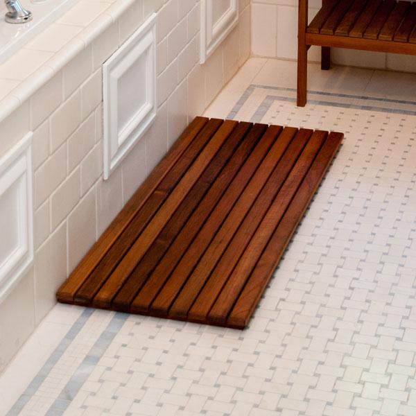 wide teak wood bath mat free shipping. Black Bedroom Furniture Sets. Home Design Ideas