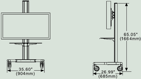 peerless flat panel tv cart for 32in. to 60in. lcd and ... wendelstein engineering schematics #4