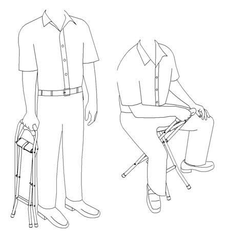 Drive Medical Folding Cane Sling Seat Free Shipping