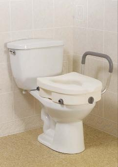 2 In 1 Locking Elevated Toilet Seat FREE Shipping