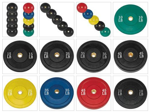 Body Solid Rubber Olympic Bumper Plates Combo Pack