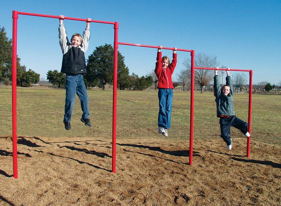Triple Horizontal Bar Playground Equipment