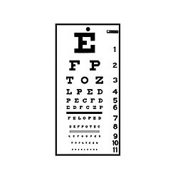 picture about Printable Snellen Charts identify Eye Test Charts Eyesight Charts Up toward 35% Off