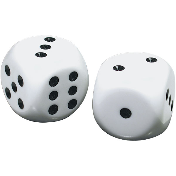 Low Vision Large Dice, Quantity of 8