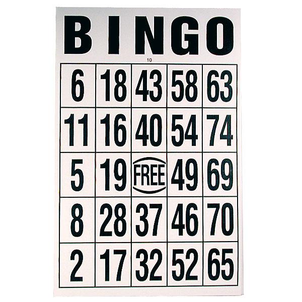 Jumbo Large Print Bingo Cards - FREE Shipping