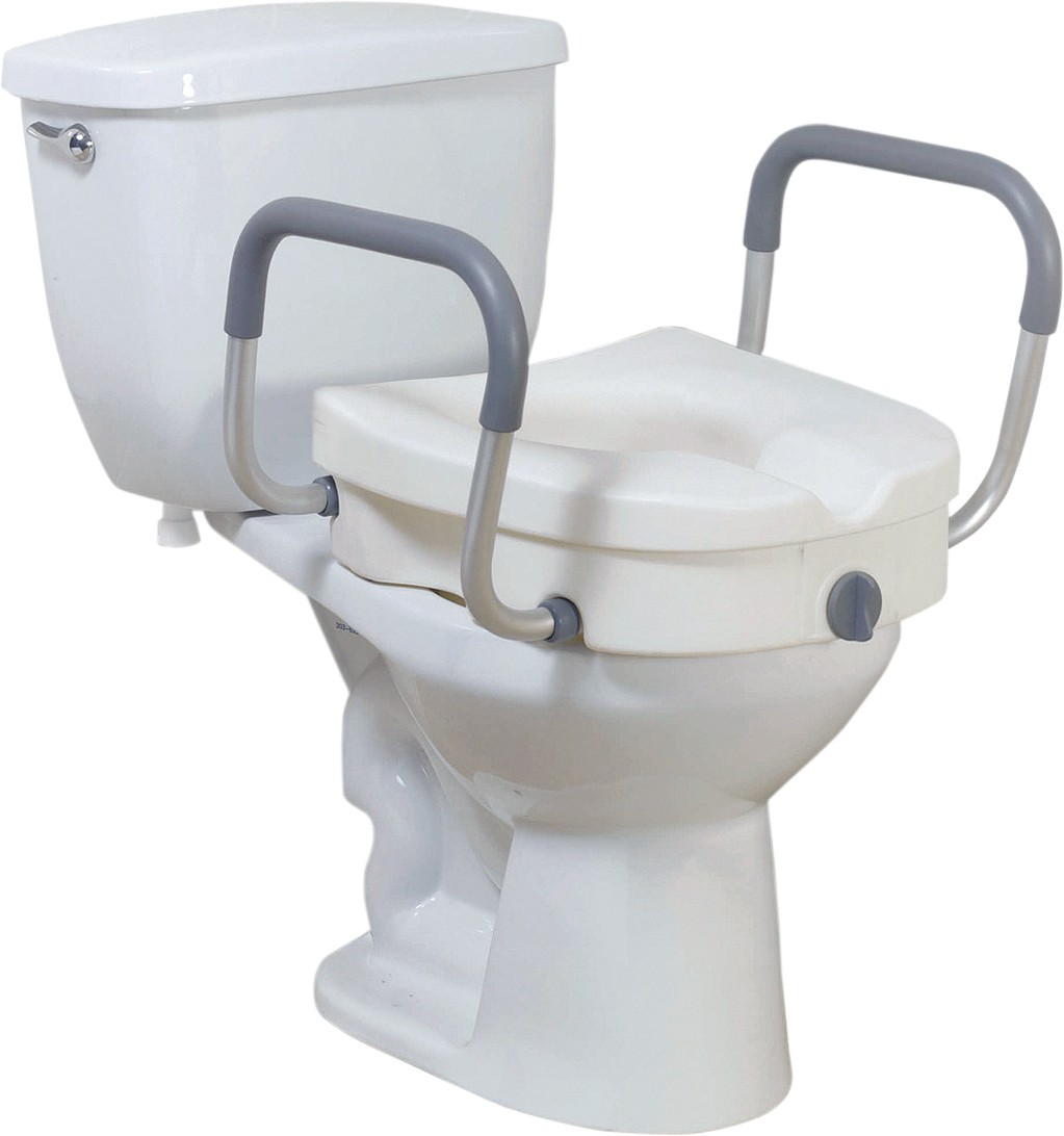 Drive Raised Toilet Seat With Arms.Drive Medical 2 In 1 Locking Elevated Toilet Seat