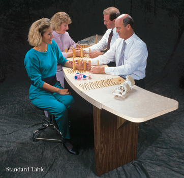 Hough Hand Therapy Table with Hand Exercise System and Storage