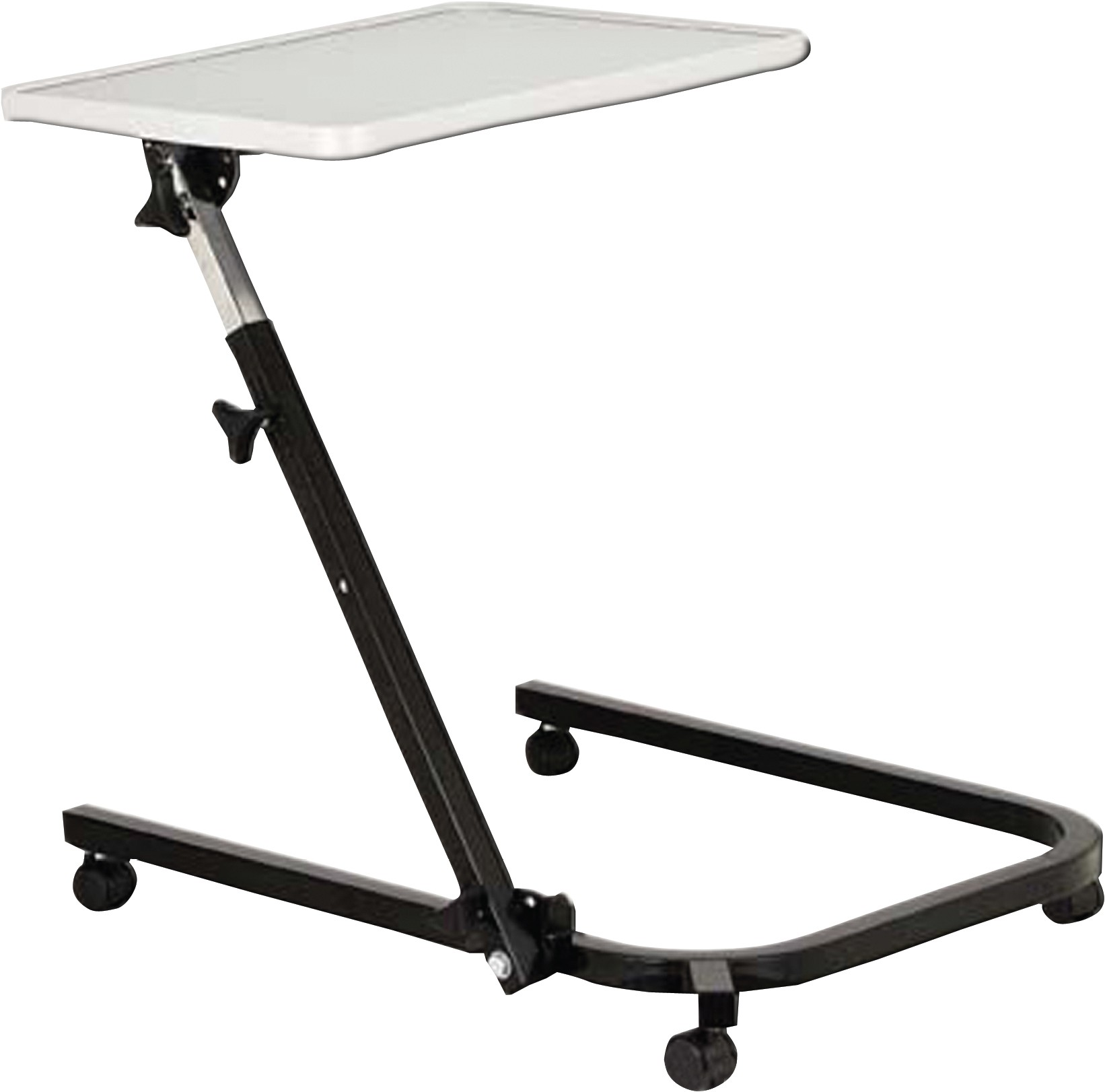 Split top overbed table - Pivot And Tilt Hospital Overbed Table