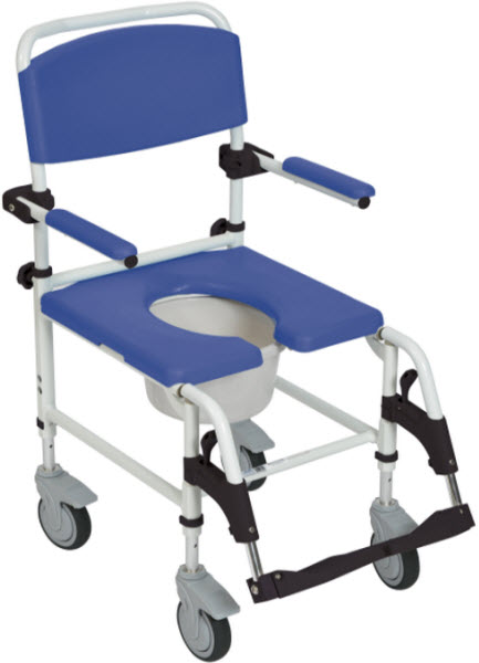 Aluminum Rehab Shower Commode Chair Free Shipping