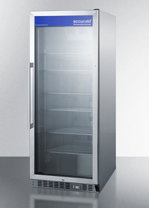 Accucold Stainless Steel Locking Phamaceutical Refrigerator