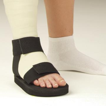 Cast Sandal Rocker Sole Post Op Rehabilitation Shoe