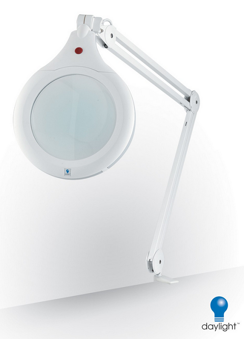 Daylight Ultra Slim Led Magnifying Lamp With Table Clamp