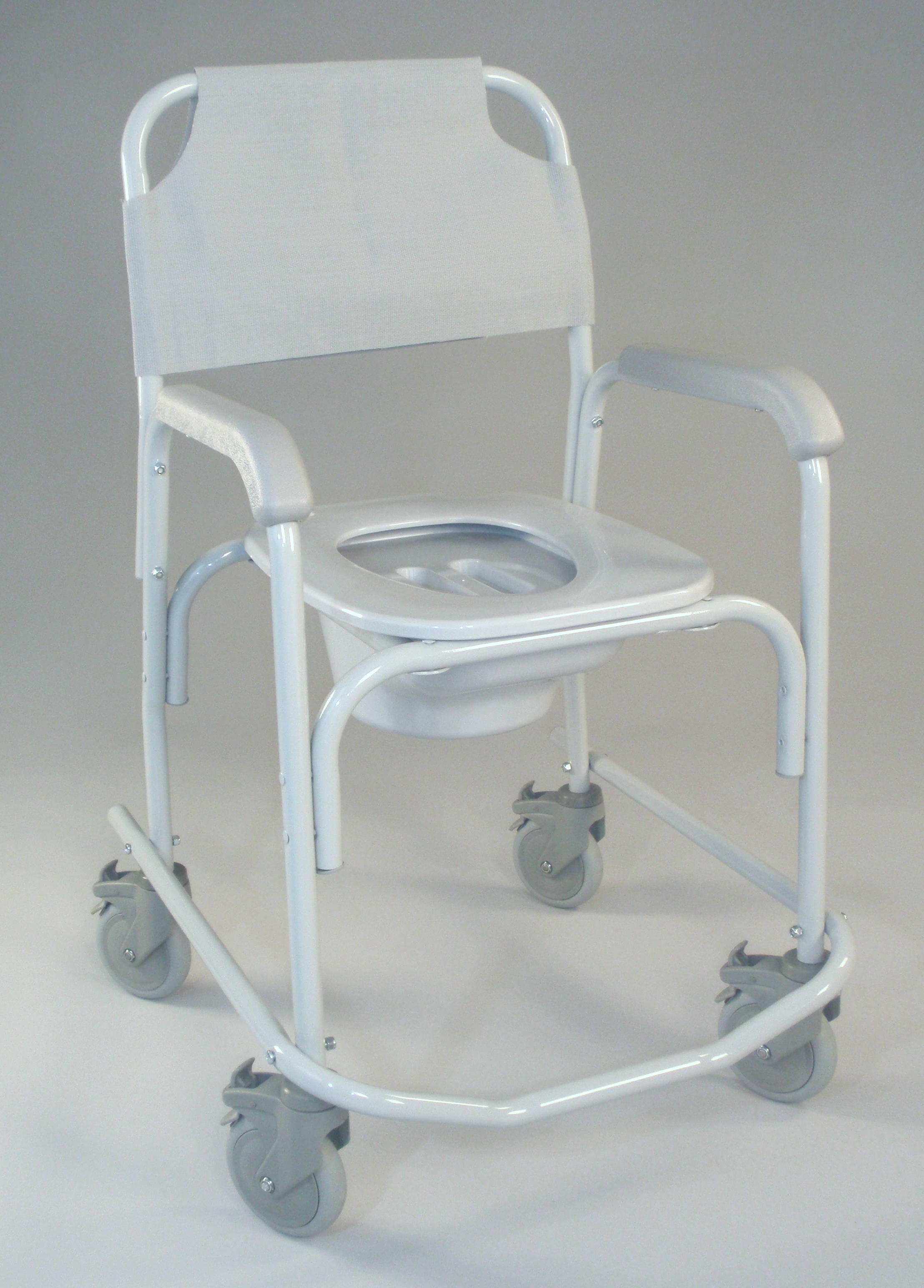 Shower Commode Chair with Elongated Toilet Seat