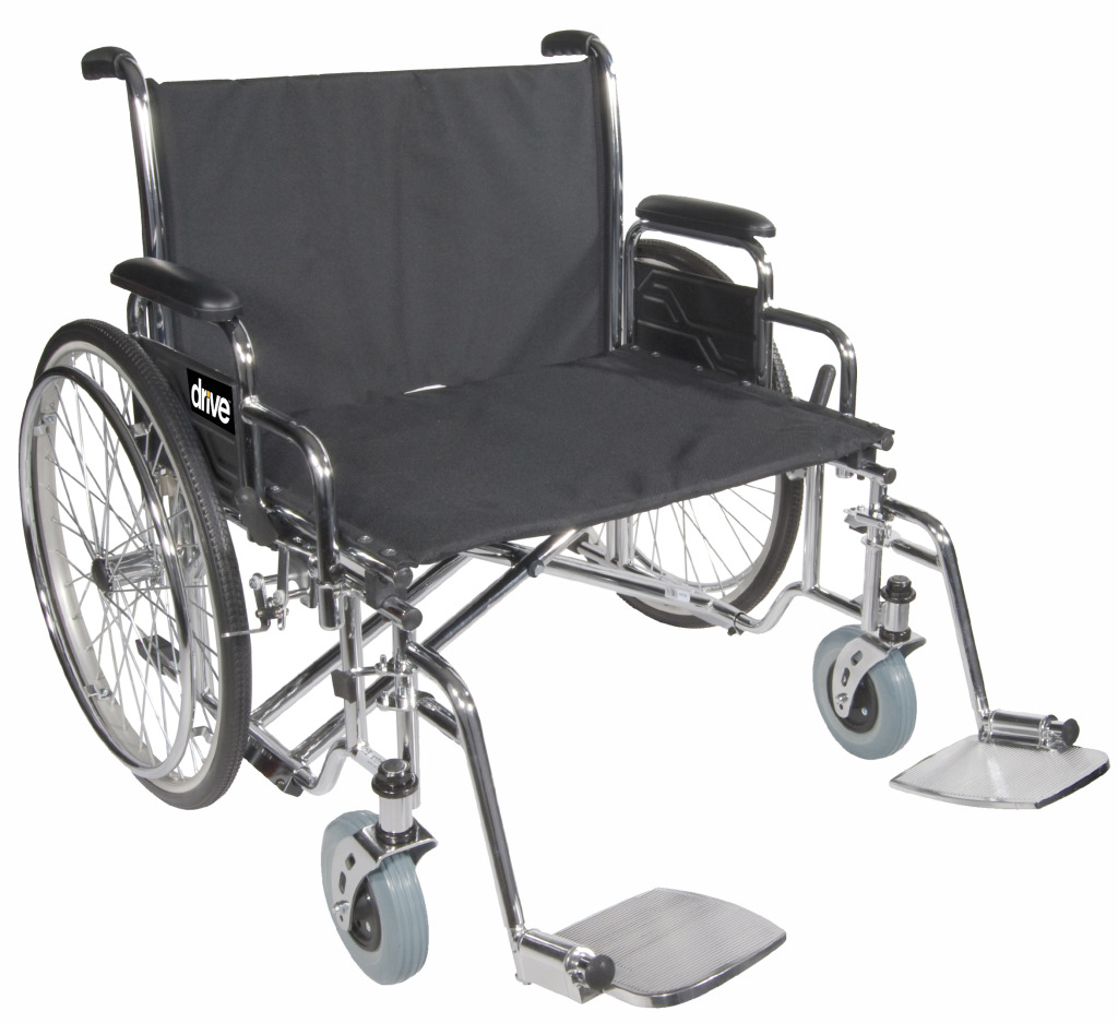 Drive Medical Bariatric Sentra Heavy Duty Bariatric Wheelchairs with  Swing-Away Footrests