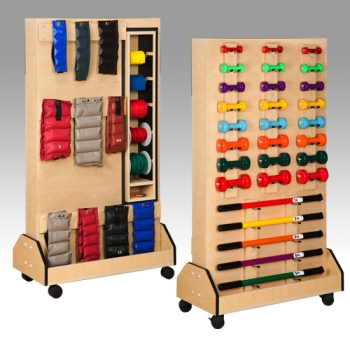 Dual Rac Physical Therapy Equipment Rack