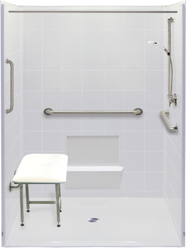 Freedom Five Piece Wheelchair Accessible Shower